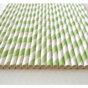 brčko bílo-zelené - pruhy - 25ks