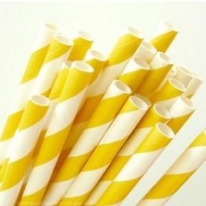 brčko bílo-žluté - pruhy - 25ks
