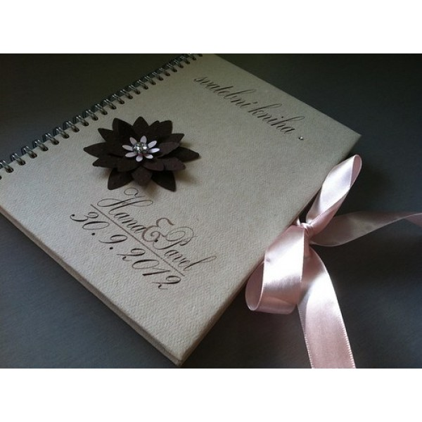 Svatební kniha - CHOCO FLOWER