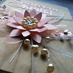 Svatební kniha - květina