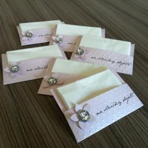 Svatební kapesníčky - LUXURIOUS PINK