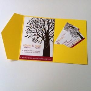 Svatební oznámení - Strom lásky II