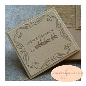 Pozvánka ke svatebnímu stolu - Vintage forever