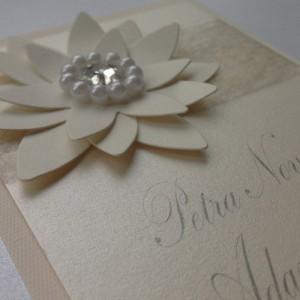 svatební oznámení KVĚTINA