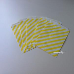 Papírový sáček - pruhy 10 ks