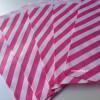 Papírový sáček - pruhy 10 ks - pink