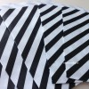 Papírový sáček -  pruhy 10 ks černá