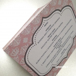 svatební menu - KRÁLOVSKÉ RŮŽOVÉ