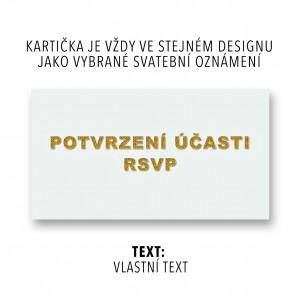 RSVP - vlastní text